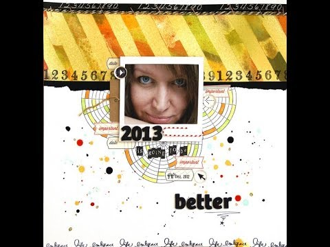 Create a personalized background pattern with paint and masking tape