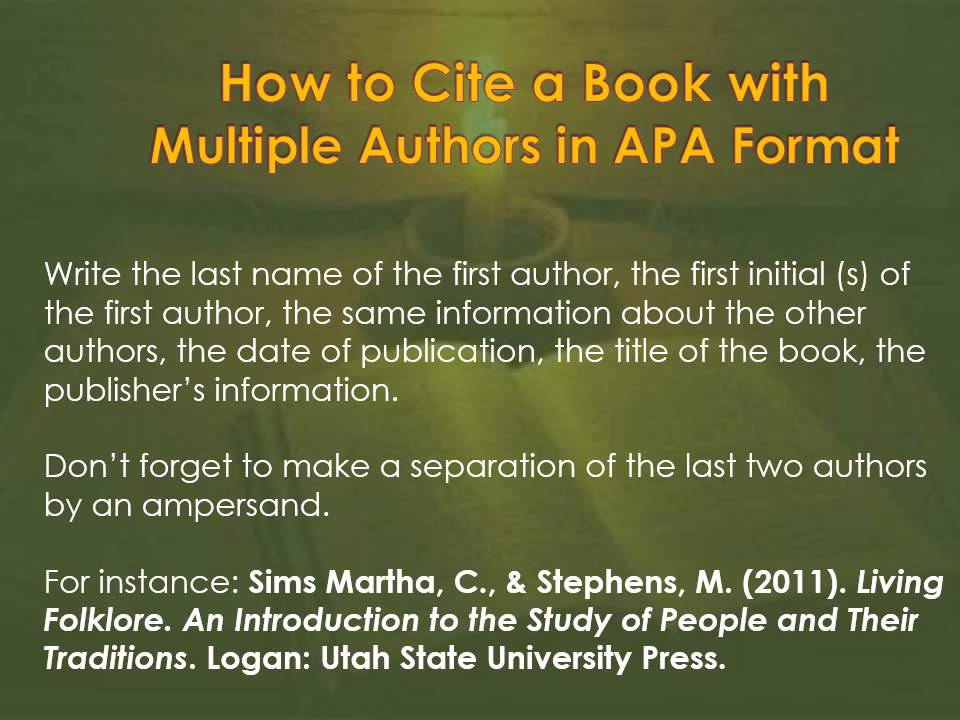 How To Cite Sources In APA Format YouTube