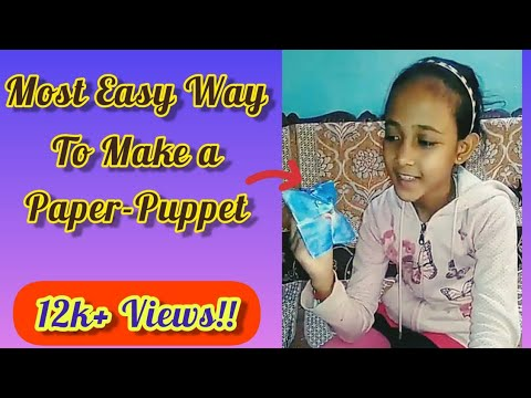 Most easy method to make Paper Puppet