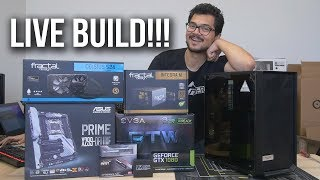 LIVE BUILD inside the new Meshify C from Fractal Design!