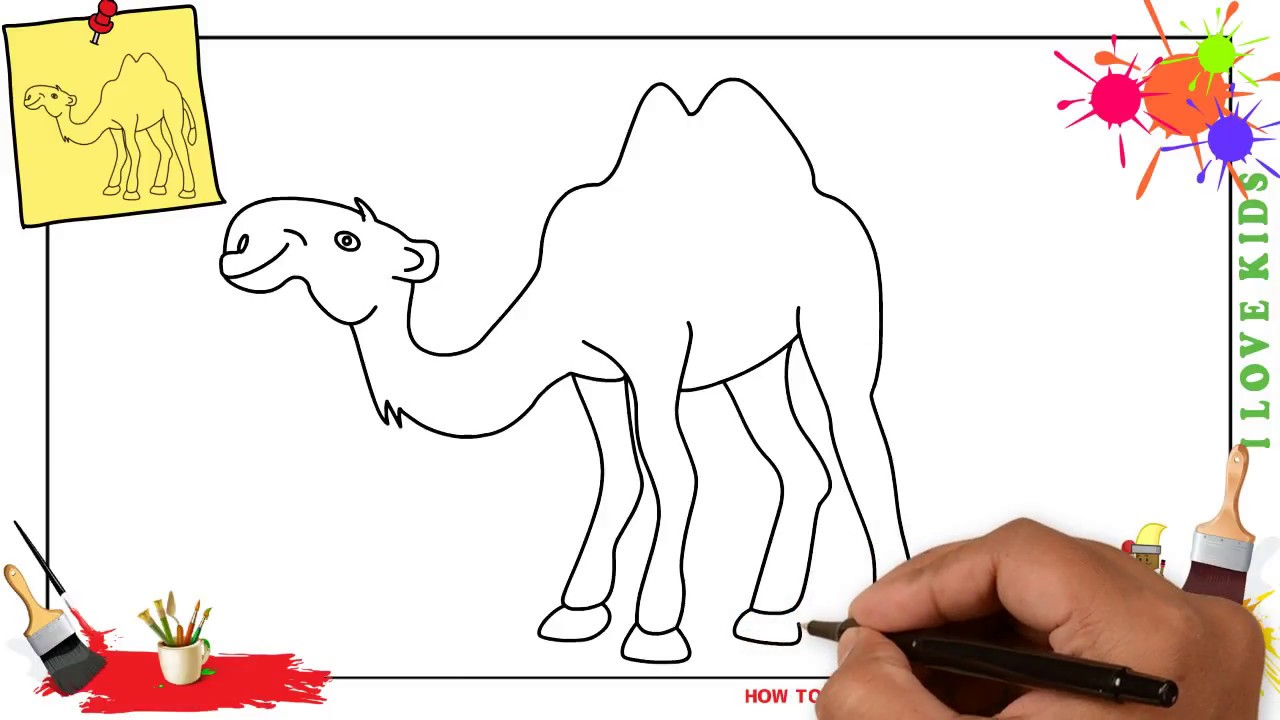 Uncategorized How To Draw A Camel Step By Step how to draw a camel easy slowly step by for kids beginners children