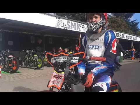 Klavs Kleinbergs speedway crash, 85 cc, Denmark, Jysk Mesterskab 08.10.2016.