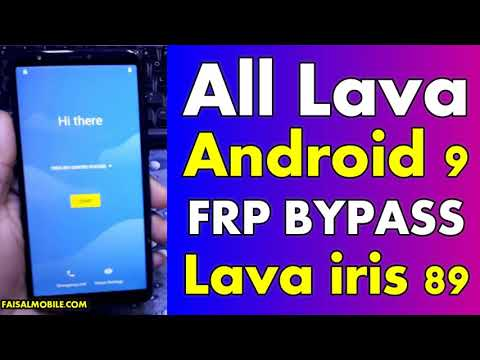 All Lava Mobiles FRP Bypass Android 9 Without Pc Lava Iris 89 Google Account