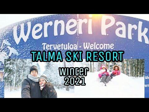 WINTER 2021 IN FINLAND HEAVY SNOW/ SLIDING DOWN HILLS//ANNA P