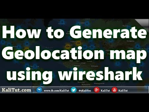 how to Generate GeoIP map using WireShark