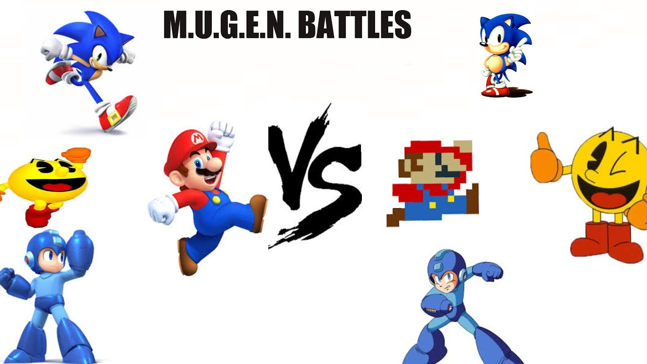 Mario Vs Sonic Vs Megaman Vs Pacman Mario Sonic Pac...