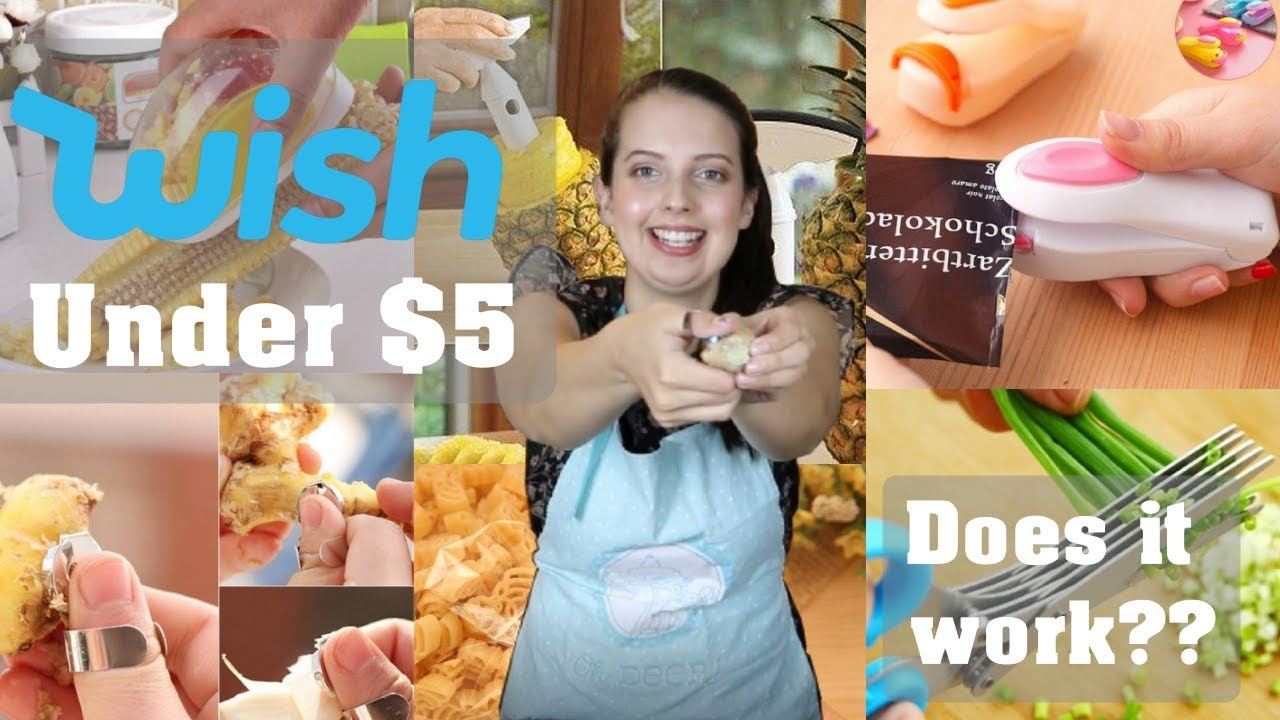 TESTING WISH $5 KITCHEN GADGETS | Wish Haul Review