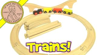Ikea Wood Train And Wood Interlocking Tracks Set