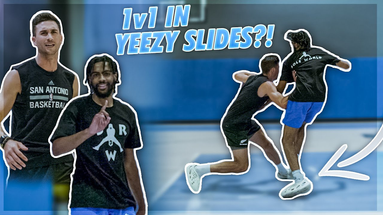 Playing 1v1 In Yeezy Slides Against Sole Resell! 😱   Jordan Lawley Basketball