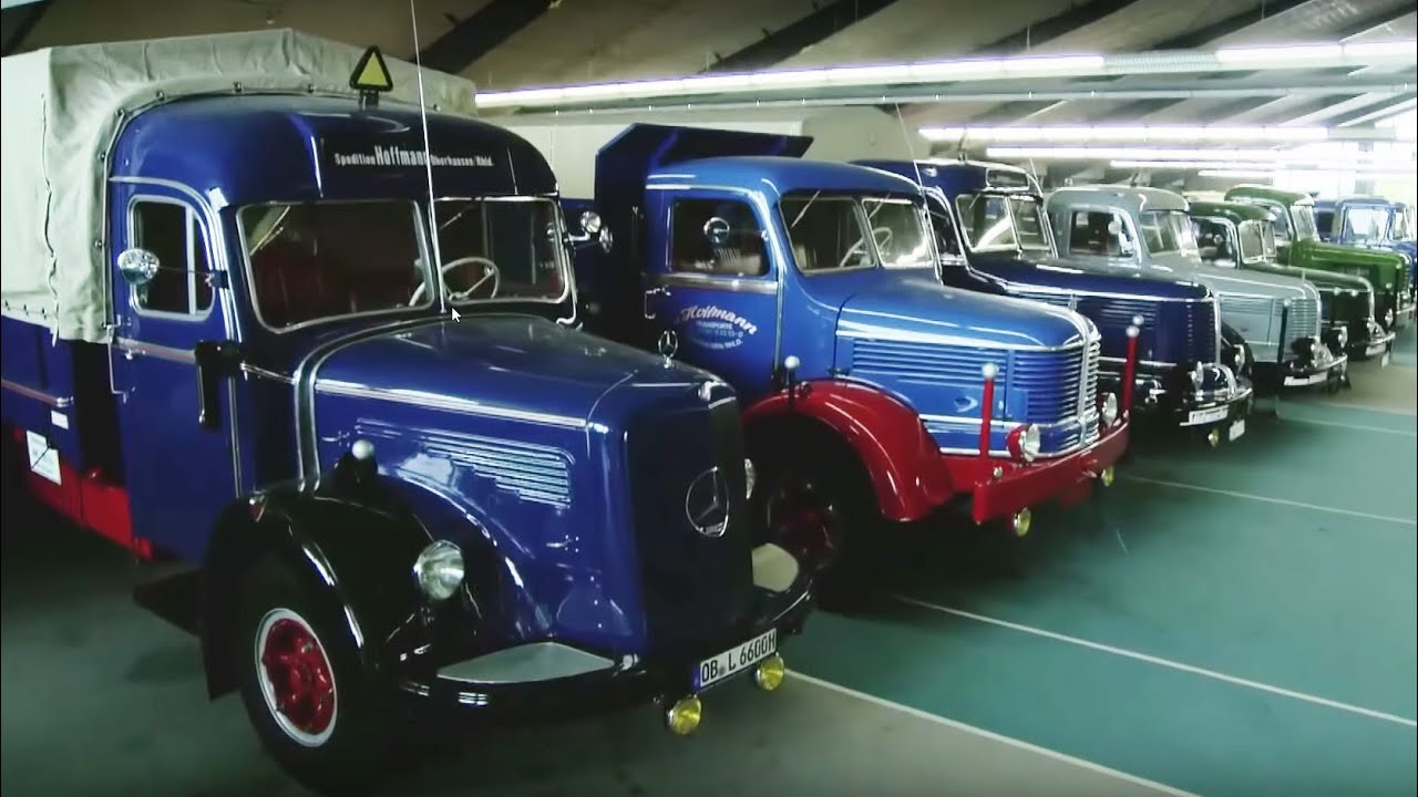 ein paradies f r lkw oldtimer in oberhausen youtube. Black Bedroom Furniture Sets. Home Design Ideas