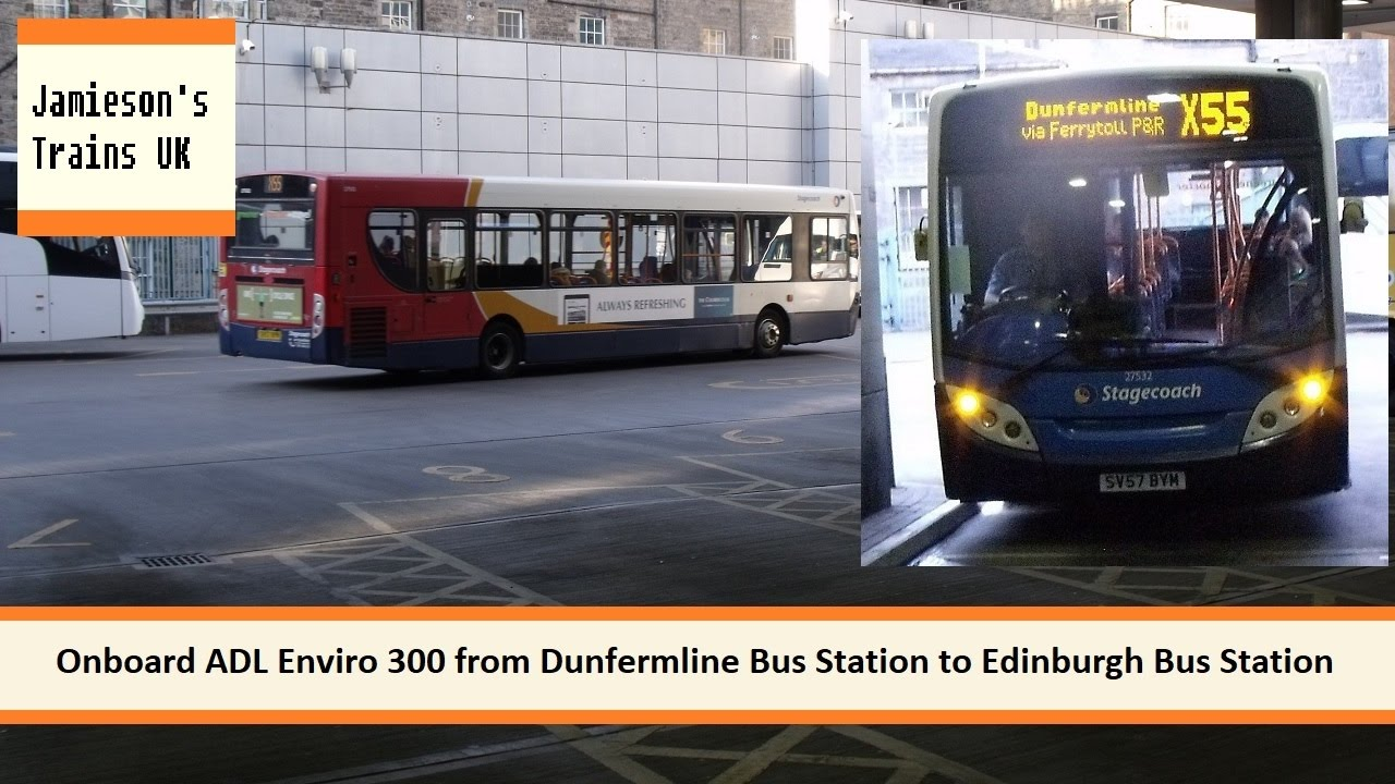 onboard adl enviro 300 from dunfermline bus station to. Black Bedroom Furniture Sets. Home Design Ideas