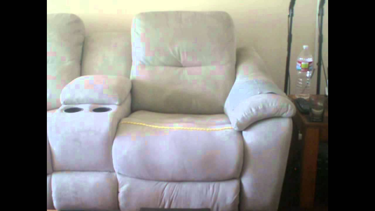 Living Spaces Review Jonathan Louis Recliner Sofa.wmv