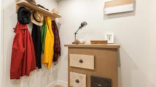 Gambar cover Decorar recibidor pequeño con mueble de cartón -  Programa completo - Decogarden