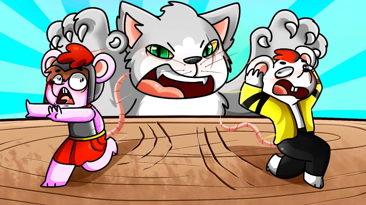 99 9 Imposible Escapar Del Gato Asesino Invictor Y Los Compas En Roblox Youtube