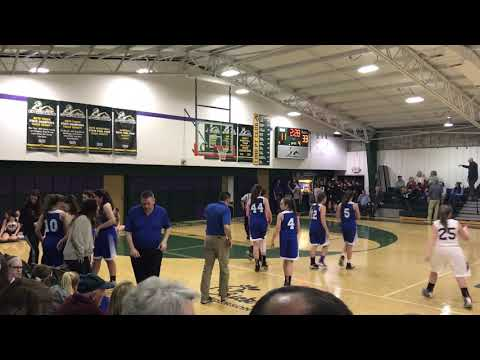 MHMS Lady Hawks at Hendersonville Christian Academy 2/1/19 4th Qtr