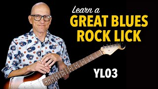 Sweet Blues Rock Lick - Learn with free TAB - YL03