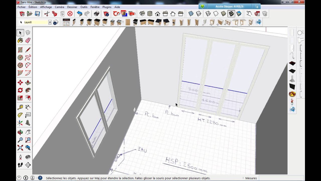 Tuto 01 faire sa cuisine 3d youtube for Cuisine 3d sketchup
