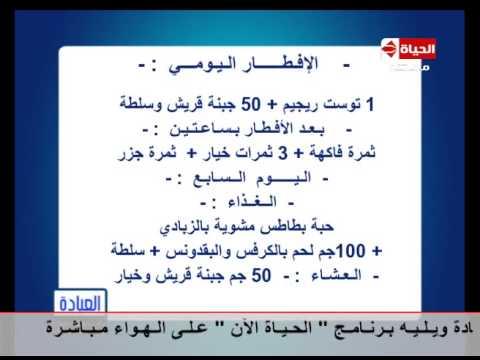 برنامج العيادة د ماجد زيتون نظام الرجيم الأسبوعي The Clinic Youtube