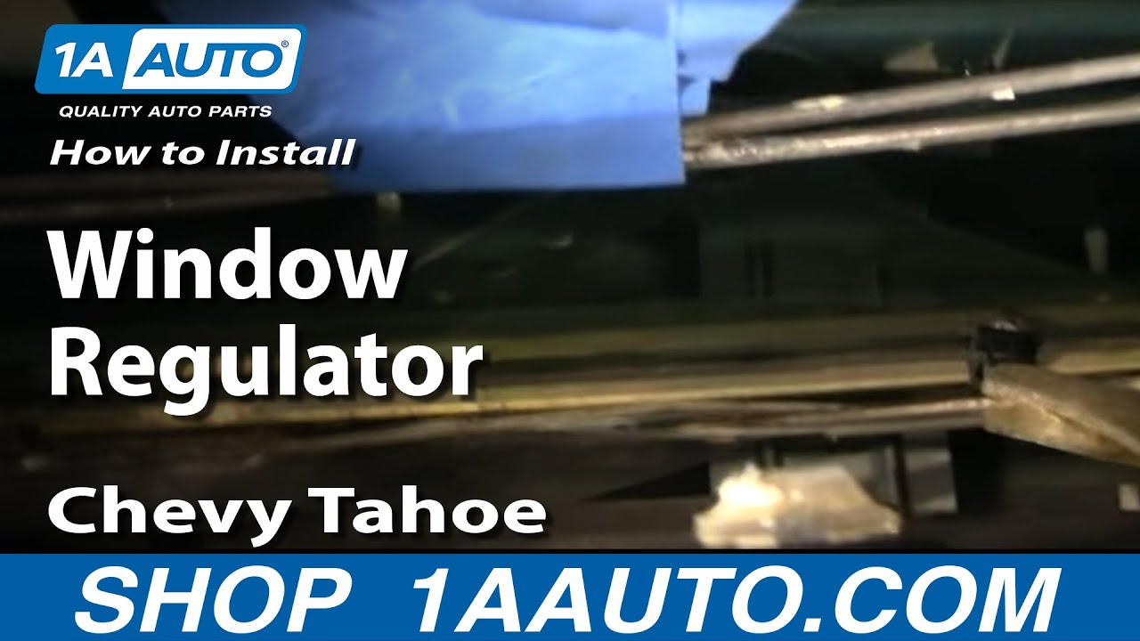 hight resolution of how to replace window regulator 95 00 chevy tahoe