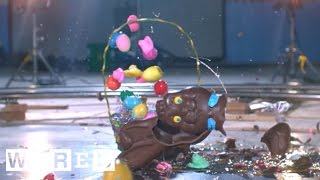 Easter Candy Destroyed in Slow Mo | Battle Damage