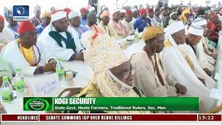 Kogi Gov Meets Farmers, Traditional Rulers, Agencies On State Security |News Across Nigeria|