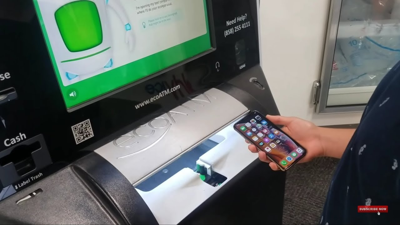 Selling my brand new Iphone xs to the eco atm machine!