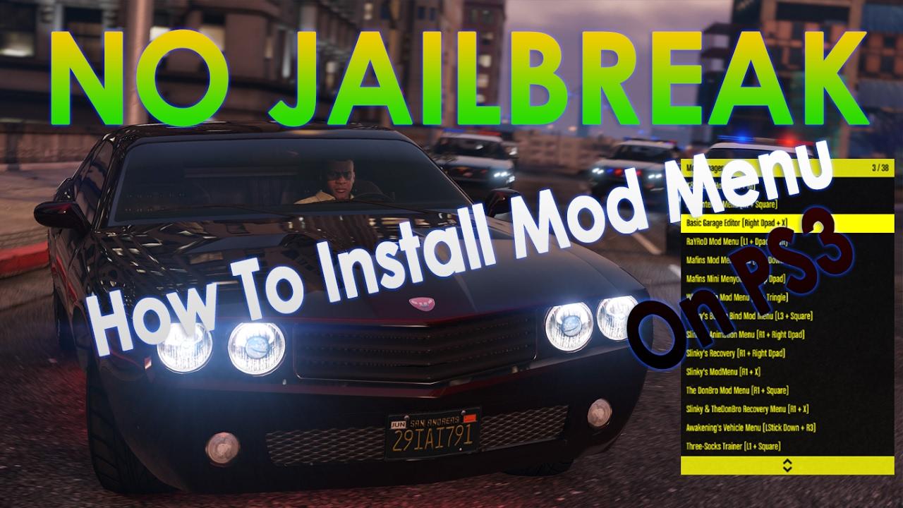 HOW TO INSTALL MOD MENU GTA5 (PS3) 1 26 NO JAILBREAK (USB MOD