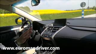 Organic Car!  Lexus NX 300h SUV Test Drive Review 2017 with Euroman Driver
