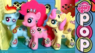 My Little Pony Pop Fluttershy Cottage Decorator Kit ❤ Build Klip Design Ponies By Funtoys