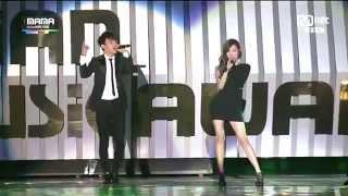 141203 Jhon Legend & SNSD Tiffany & EXO Chen - Green Light @ MAMA 2014