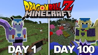 I Played Dragon Ball Z Minecraft For 100 DAYS... This Is What Happened