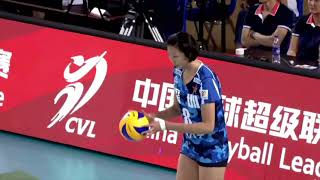 2017-2018 China Volleyball League 1st Stage YUAN Xinyue Serve Highlights
