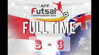 HALFTIME INDONESIA 2 - 1 AUSTRALIA   Futsal AFF Championship