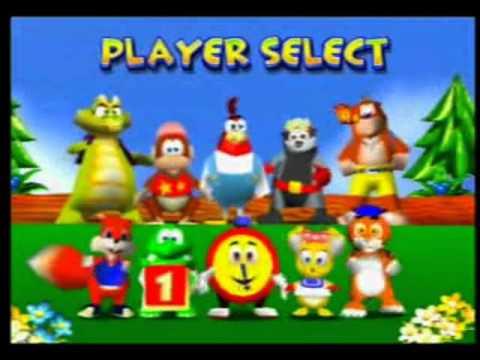 Diddy Kong Racing - Select Player - YouTube
