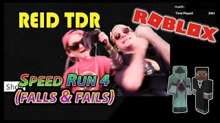 ROBLOX / SPEED RUN 4 (FUNNY FALLS & FAILS) / Reid TDR for Kids, Dad and Son, no bad words, YouTube