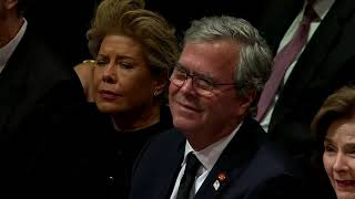 President George W. Bush's full emotional speech at his father's funeral