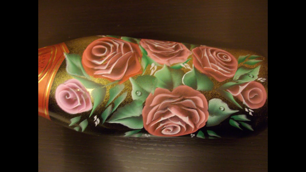 Bottiglia di vetro dipinta idea regalo di natale fai da - Scene di natale a colori ...