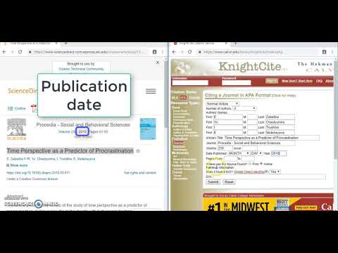 Cite a ScienceDirect article in APA format
