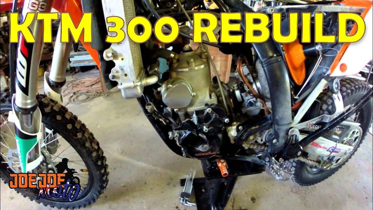 jjm ktm 300 rebuild part 1 - youtube