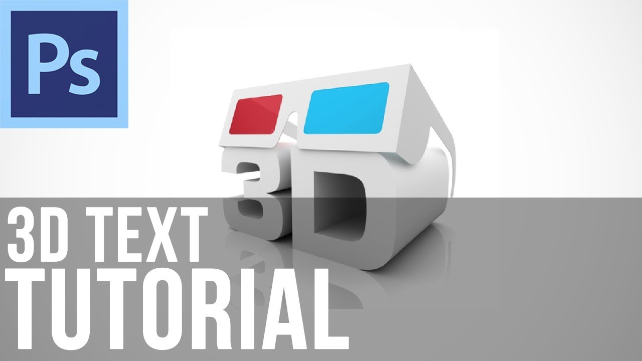 Adobe photoshop cs6 create basic 3d text youtube baditri Choice Image