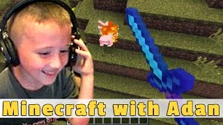 Minecraft With 6 Year Old Adan - Enchanted Weapons!
