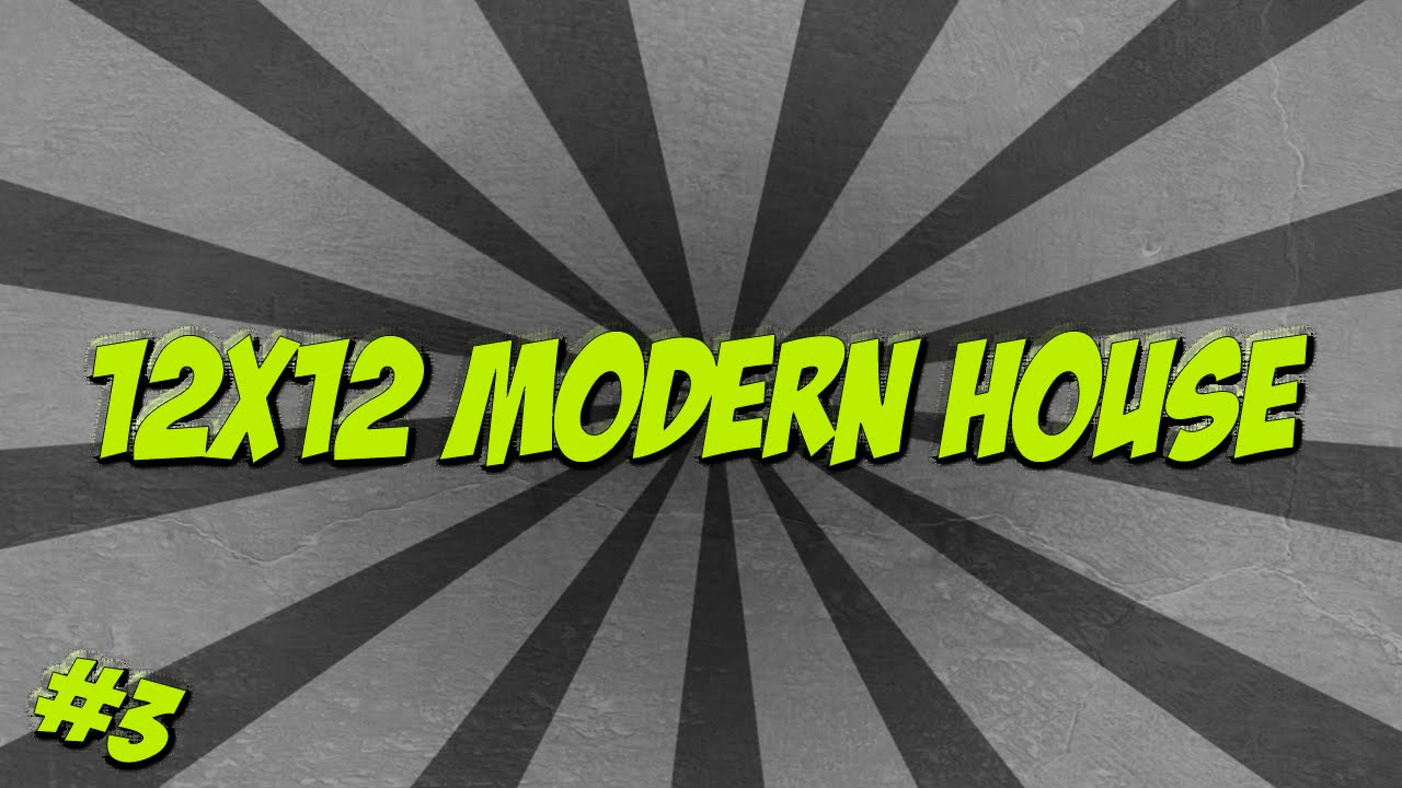 Minecraft Timelapse 12x12 Modern House EPISODE 3 YouTube