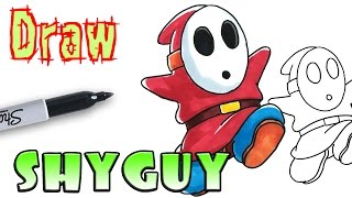 How to Draw Shy Guy - Mario - Coloring Pages