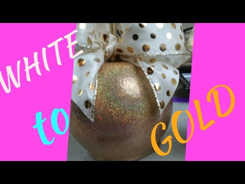 DIY TURN WHITE CANDY APPLES TO GLITTERY GOLD (MUST SEE)