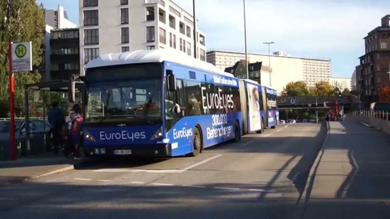 hd zeitraffer metrobus 5 hha euro eyes van hool agg300 durch hamburg youtube. Black Bedroom Furniture Sets. Home Design Ideas