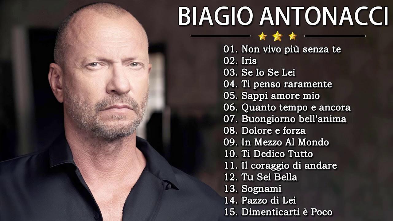 Le Migliori Canzoni Di Biagio Antonacci – The Best Of Biagio Antonacci Full  Songs - YouTube