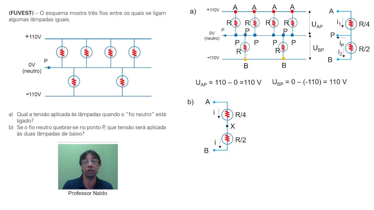 Circuito Eletricos : Circuito elétrico ° lei de ohm e resistência equivalente youtube