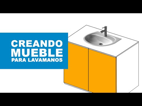 Cmo hacer un mueble para el lavamanos  YouTube