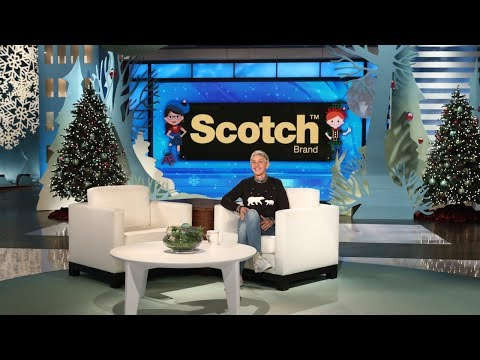 Ellen Kicks Off Scotch Brand's Most Gifted Wrapper Contest