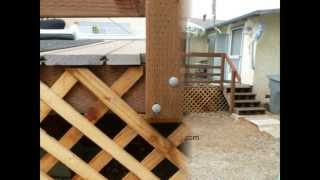 Shrinking Lumber Loosens Handrails - Wood Deck Maintenance